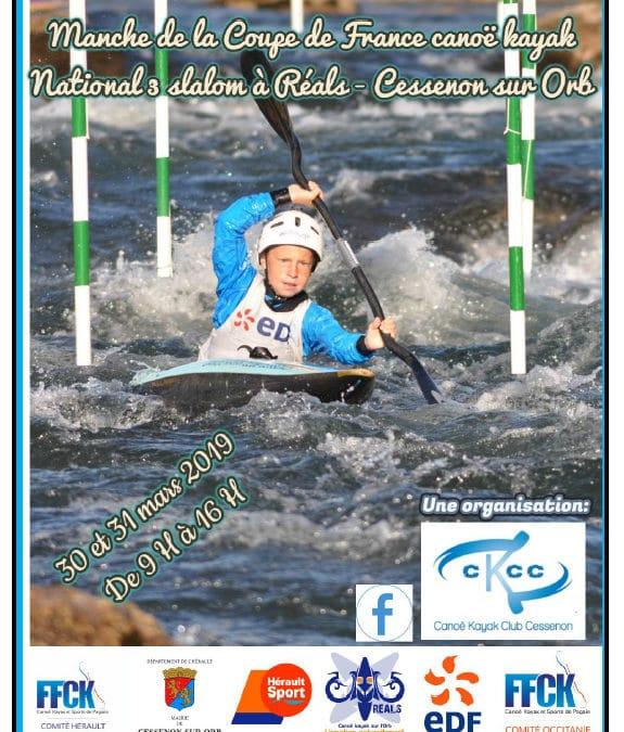 National 3 : le club de Canoë-kayak du Loup présent à Réals (31 mars 2019)