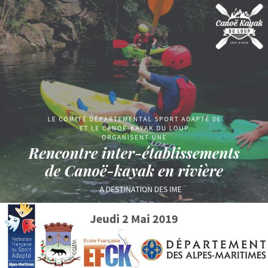 Le 2 mai 2019 – Rencontre inter-établissements de Canoë-kayak en rivière