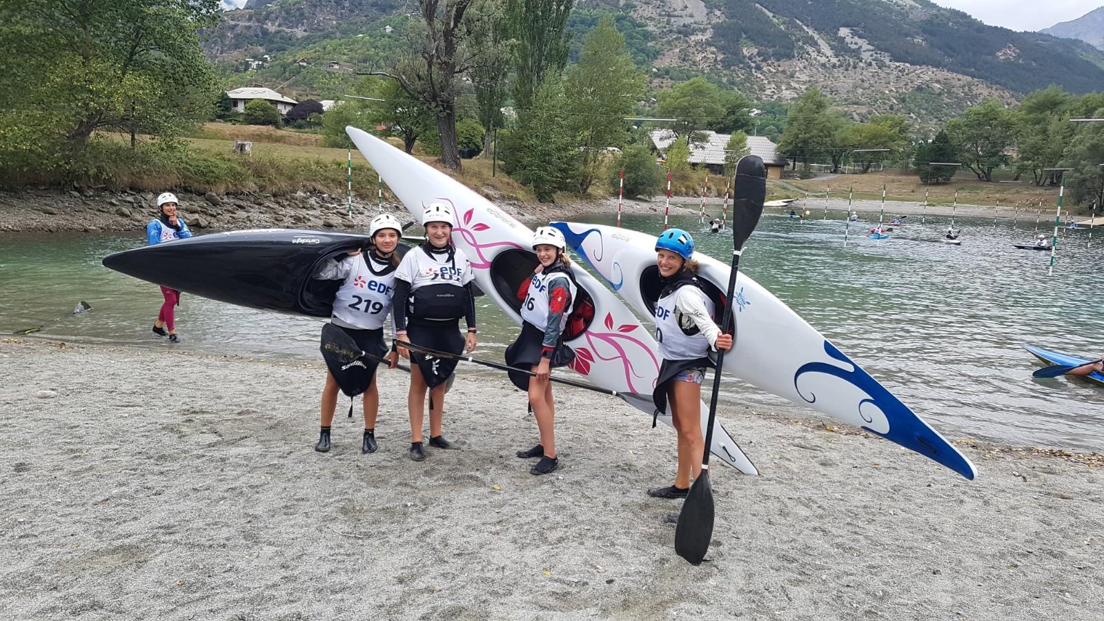 Le club de Canoë-kayak du Loup obtient de bons résultats aux courses régionales de l'Argentière-la-Bessée