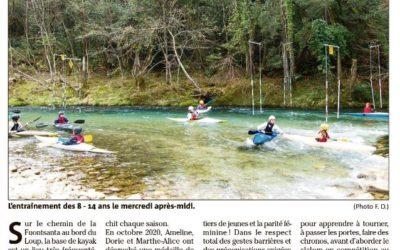 Le Canoë-Kayak du Loup à l'honneur dans Nice-Matin